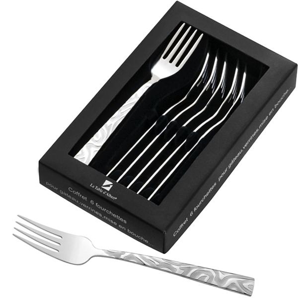 Coffret 6 fourchettes à gateau Savana
