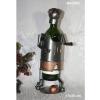 Porte bouteille métal décor joueur foot