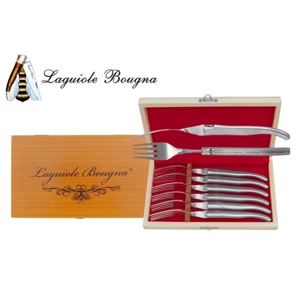Coffret 6 fourchettes Laguiole manche inox