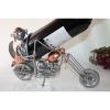 Porte bouteille métal décor moto Biker