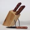 Bloc en bois de 6 couteaux office
