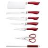 Bloc de couteaux 8 PCS Rouge