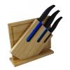 Couteaux de cuisine, planche bambou